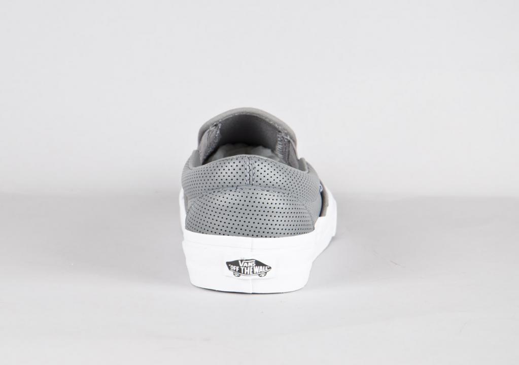 c50972730f1 Vans. Slip On (Perf Leather)   Smoked Pearl