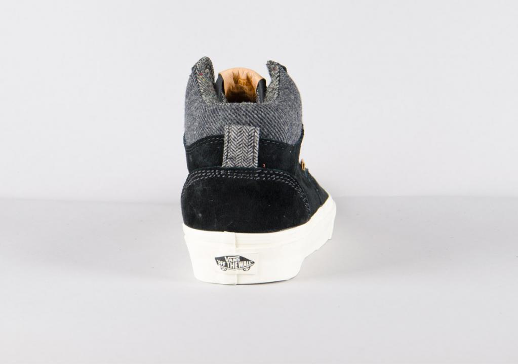 401b5dcb59 Vans Era Hi CA (Pig Suede) Black Mix Textiles