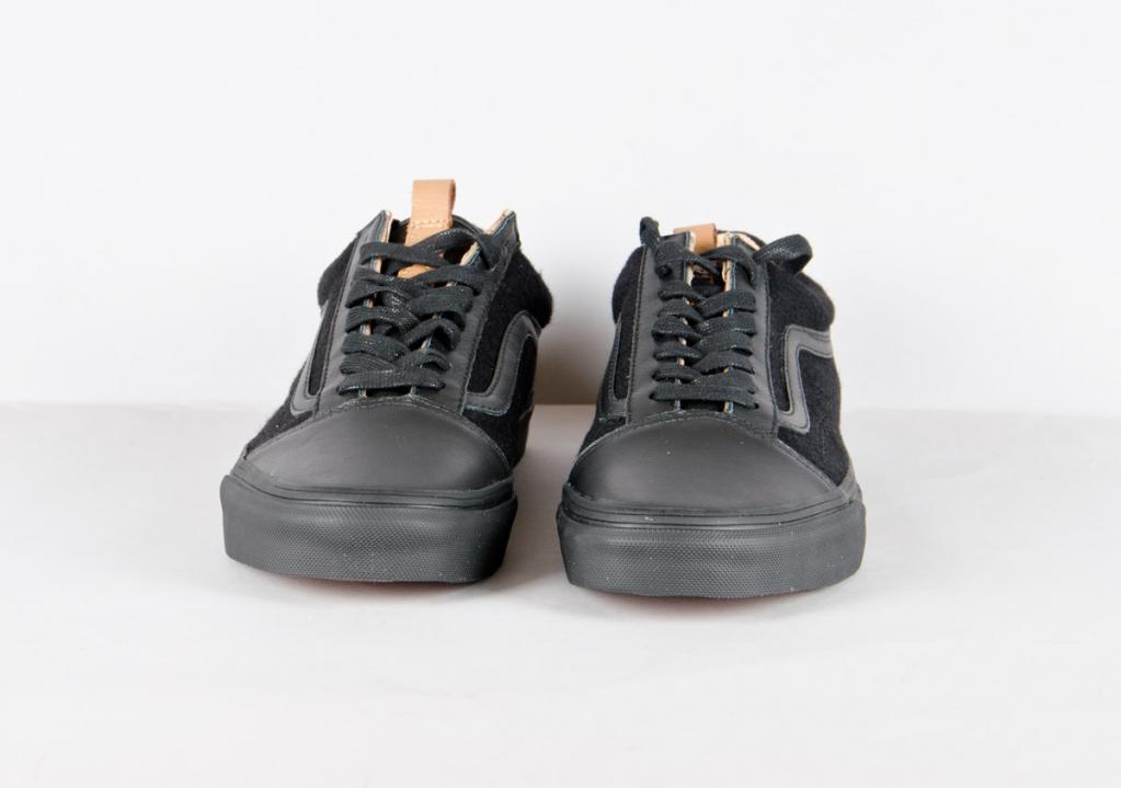 a7680f989f Vans Old Skool Reissue CA (leather wool)   black black