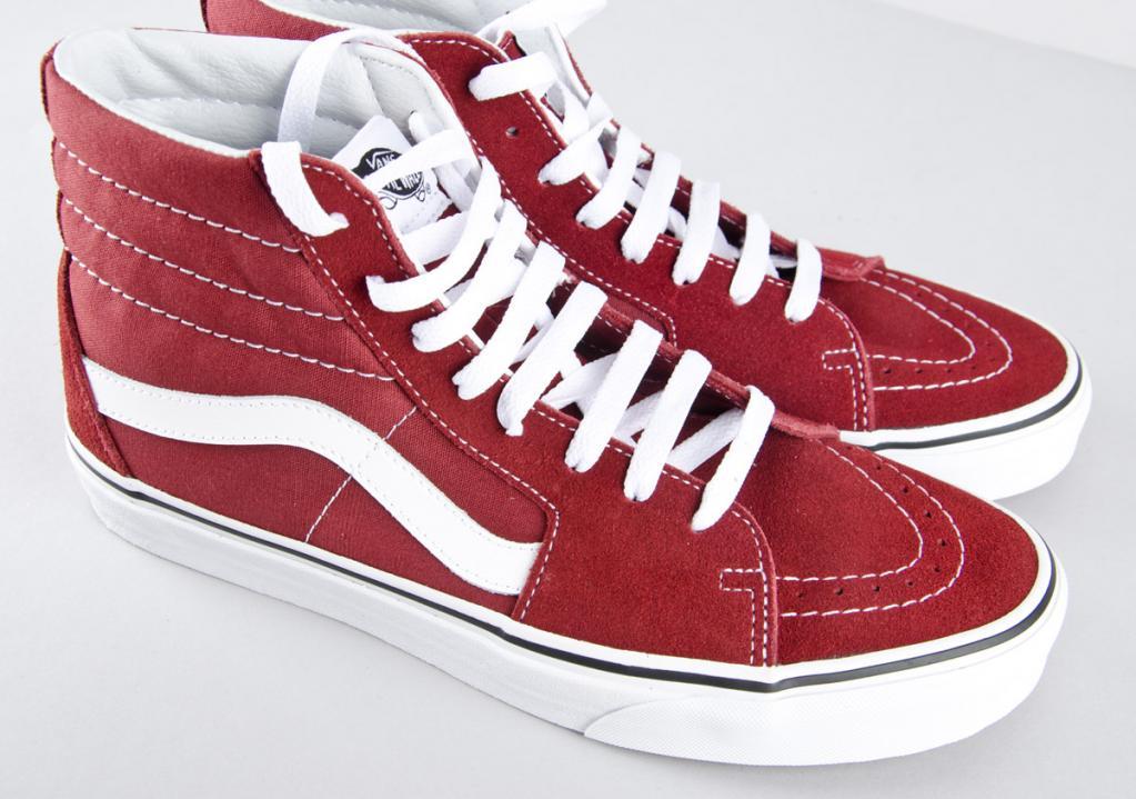 fc87fe85dde3 Vans. Skate Hi   madder brown white