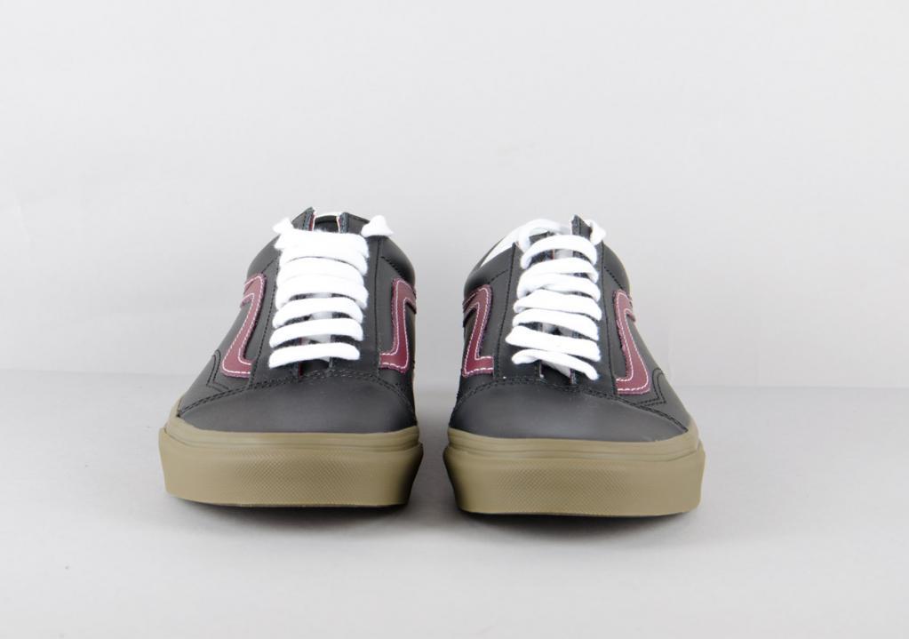 a19b21d0ad Vans. Old Skool (bleacher) leather   black port gum